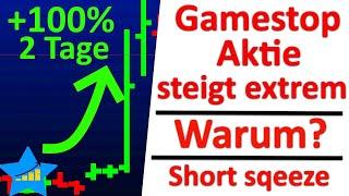 Die gamestop aktie ist in den letzten tagen um bis zu 100% gestiegen. gleichzeitig haben anleger mit der durch einen short sqeeze 800 m...