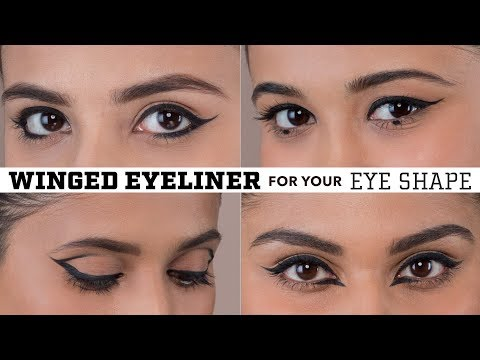 Winged Eyeliner For Your Eye Shape | Hooded,  Deep Set, Almond, Downturned & Round Eyes!