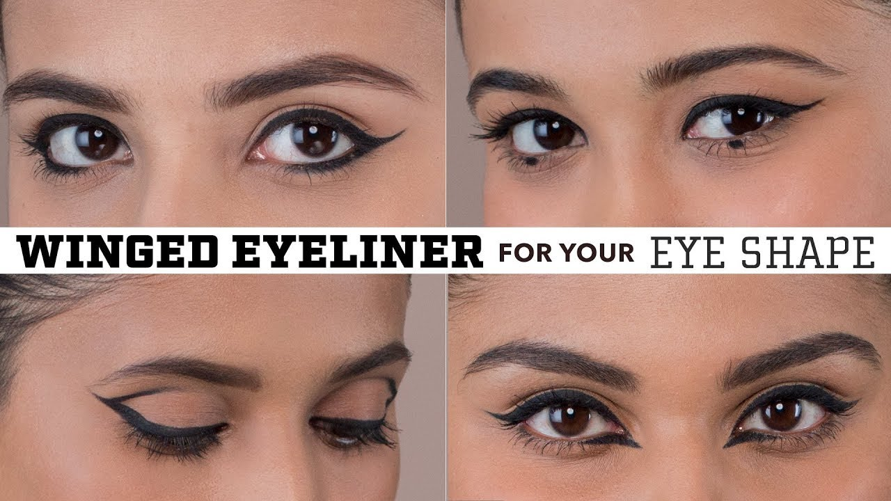 Winged Eyeliner For Your Eye Shape  Hooded, Deep Set, Almond, Downturned &  Round Eyes!