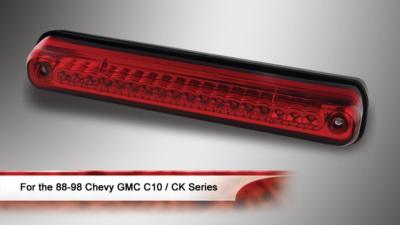 88 98 chevy gmc c10 ck series sierra silverado led 3rd brake light