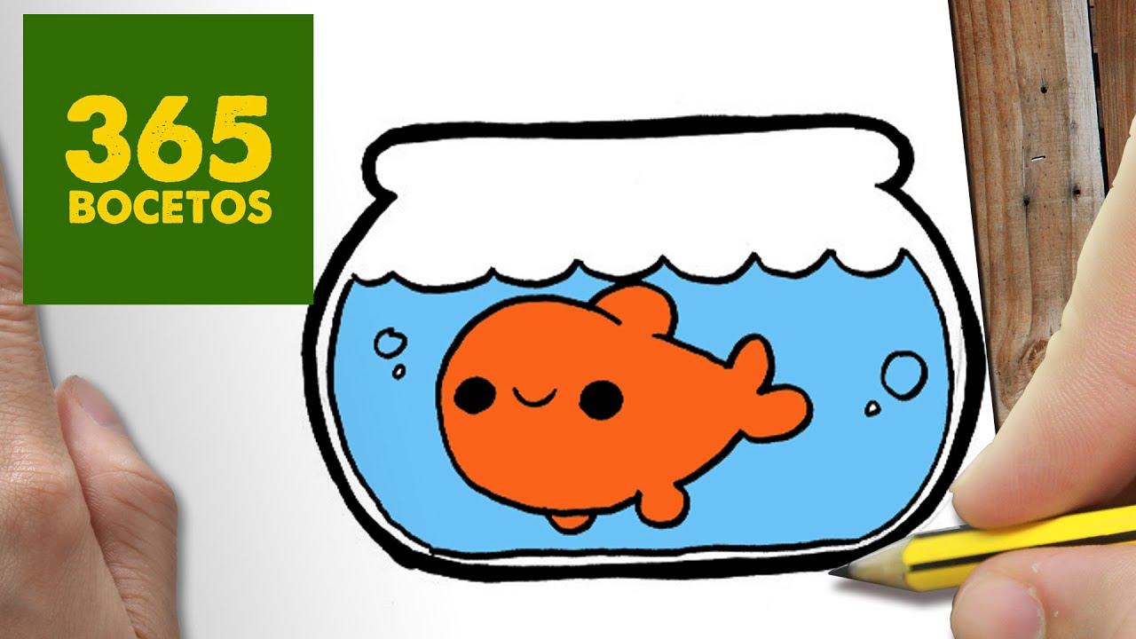 Como Dibujar Pecera Kawaii Paso A Paso Dibujos Kawaii Faciles How To Draw A Fishbowl