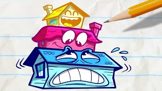 Pencilmate & Pencilmiss 🏠 PENCILMATE'S HOME 🏠 HOME SWEET HOME COMPILATION 🦐 Cartoons 2020
