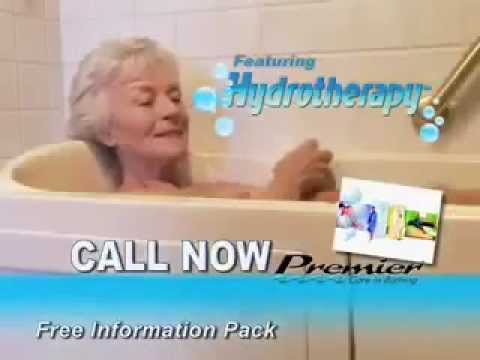 Premier care in bathing walk in bathtub commercial youtube for Premier care bathrooms