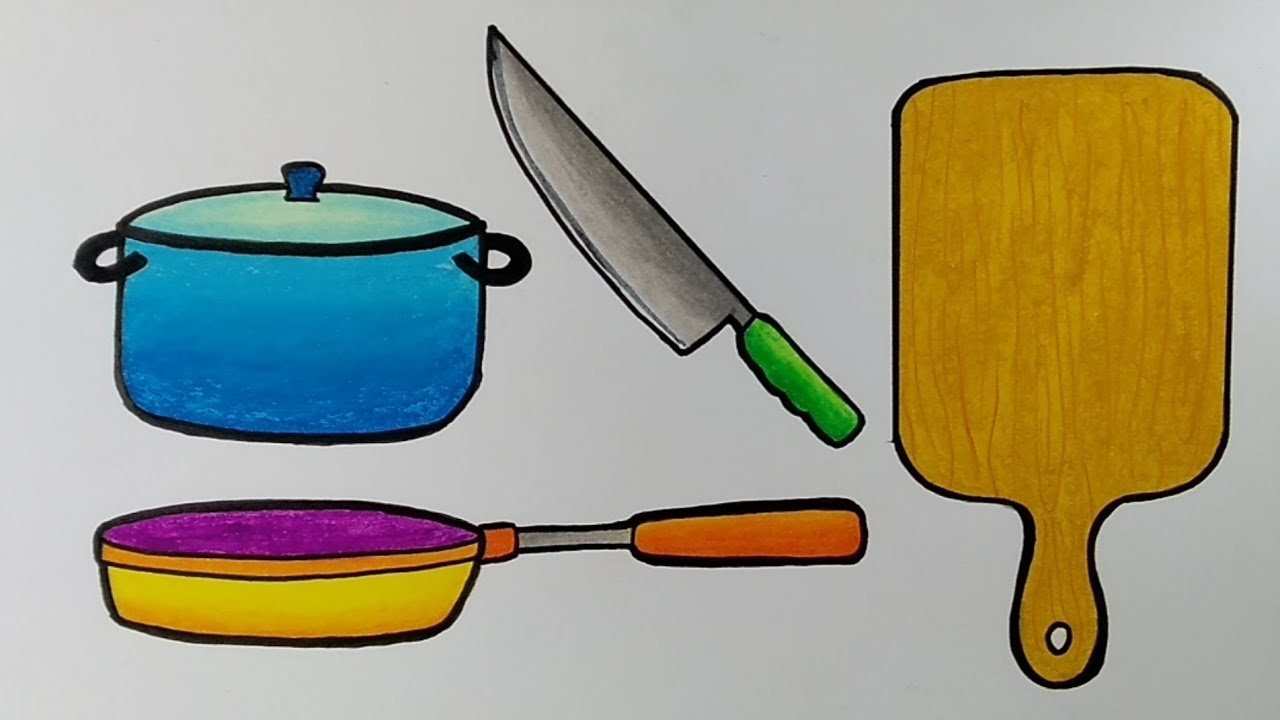 Menggambar Peralatan Dapur Menggambar Peralatan Rumah Tangga Belajar Menggambar Untuk Pemula Youtube Contoh peralatan rumah tangga