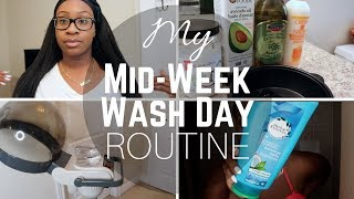 MY MID-WEEK WASH DAY ROUTINE + SCARF METHOD | RELAXED HAIR