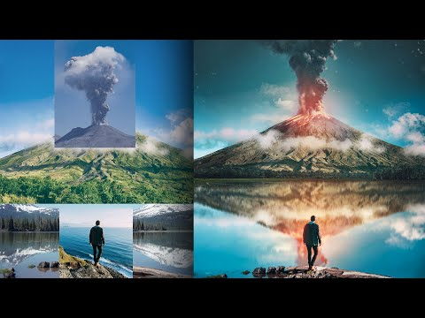 How to Turn Stock Photos Into a Piece of Art   Volcano PhotoManipulation Tutorial