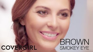 brown smokey eye flawless skin makeup tips with sona gasparian   covergirl