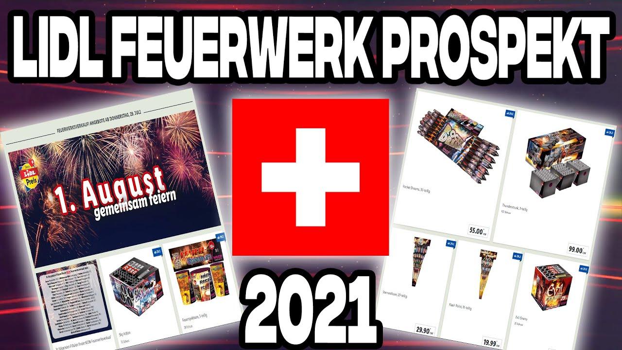 Lidl Schweiz Feuerwerk Prospekt 2021   1.August