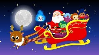 몬스터 크리스마스 #2 | 몬스터 친구들과 산타의 크리스마스 선물 배달 | 크리스마스 동화★지니키즈