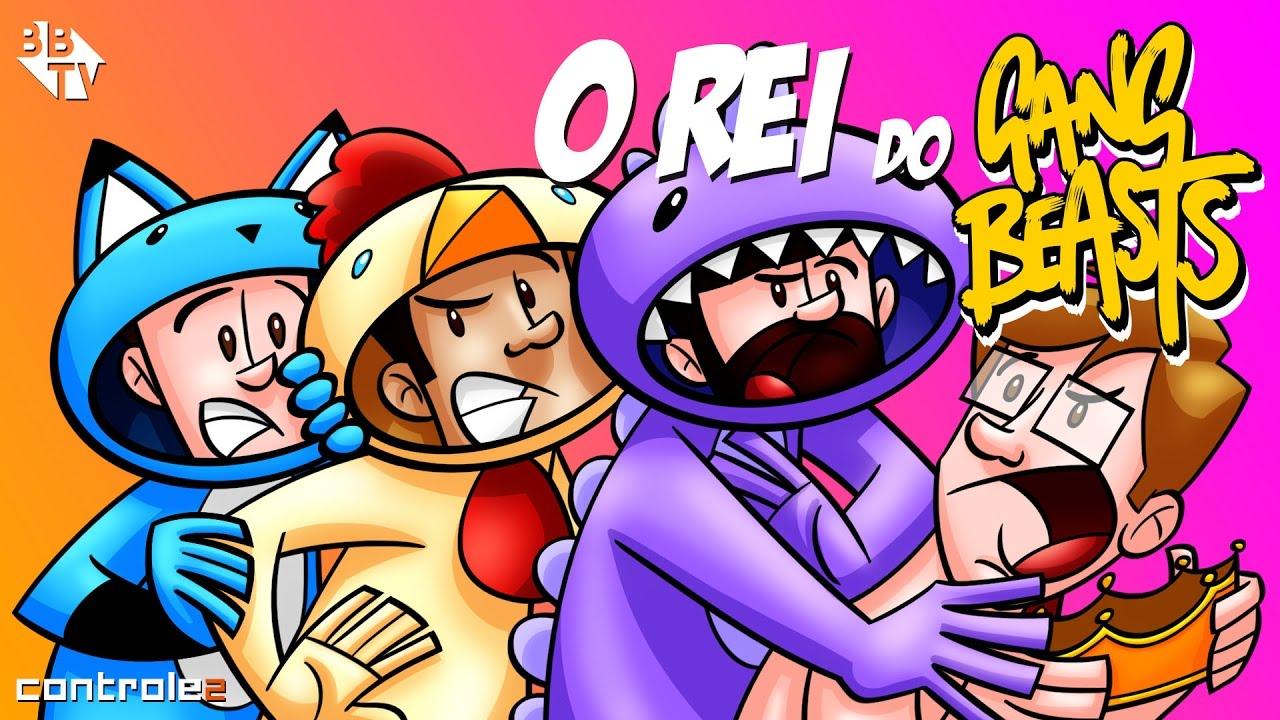 Controle 2 Animado -REI DO GANG BEASTS com Authentic, Leon, Edu e Caue -  YouTube