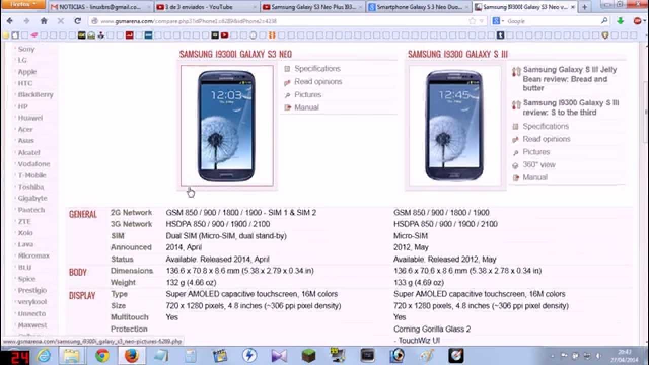 samsung galaxy s3 neo i9300i lan amento an lise e especifica es rh youtube com Samsung Galaxy S3 Operators Manual Samsung Galaxy S3 Manual Book
