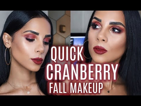 Quick FALL Cranberry Makeup thumbnail