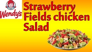 ♦ Wendy's Strawberry Fields Chicken Salad ♦ The Fast Food Review ♦