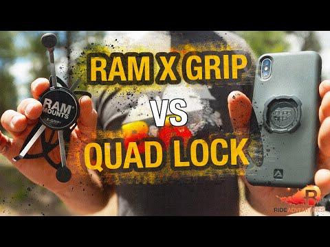RAM MOUNTS X-GRIP VS QUAD LOCK | BEST MOTORCYCLE PHONE MOUNT | RIDE Adventures