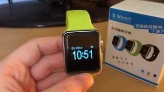 review unboxing of apple smart watch clones dwatch aw08 fake buying from aliexpress alibaba