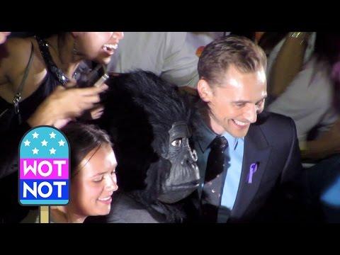 Tom Hiddleston Surprises A Gorilla At The Kong Skull Island Premiere