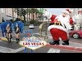 Walking the LAS VEGAS STRIP on CHRISTMAS 2018 (Sights & Sounds)