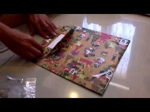 Gift Bag 1 - T Shirt Origami - Bungkus kado kreatif.