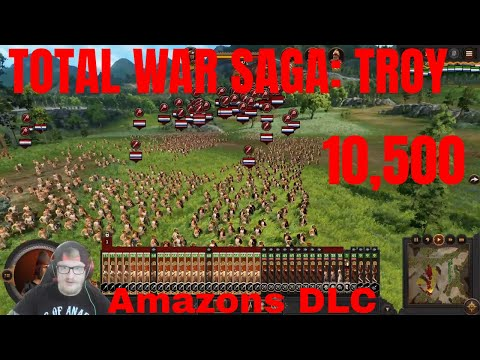 A Total War Saga: TROY - The New Amazons Are OP Vs 10,500 Islander Horde Soldiers (Amazons DLC) |