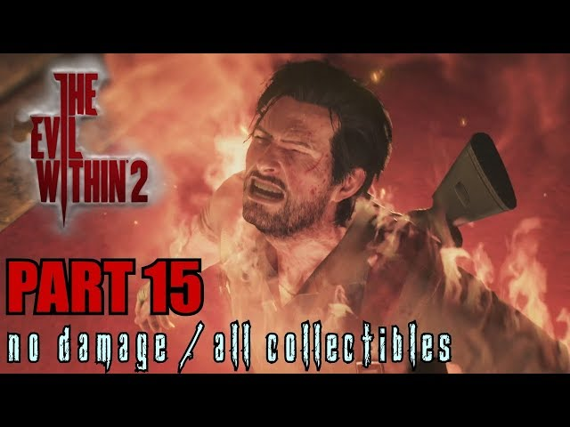 The Evil Within 2 Walkthrough Part 15 - Bottomless Pit No Damage / All Collectibles