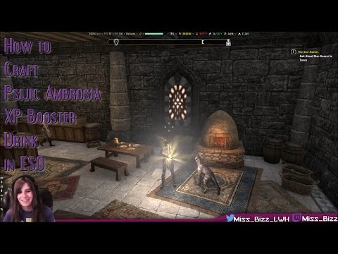 How To Craft Psijic Ambrosia Drinks (XP Boosters) in ESO