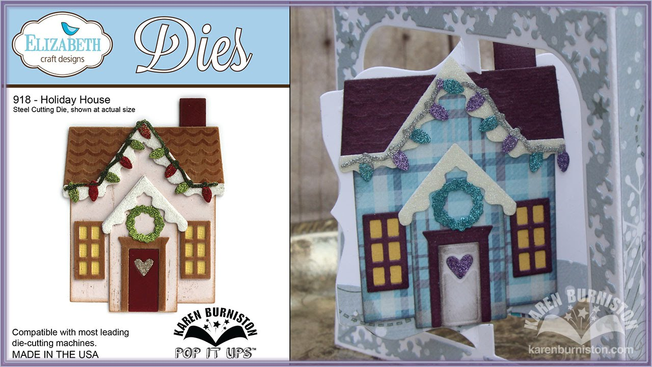 Pop It Ups Holiday House Die By Karen Burniston YouTube