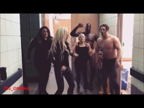Alexa Bliss Tight Pants Dance Maryse Nia Jax Titus Miz Jimmy Fallon WWE