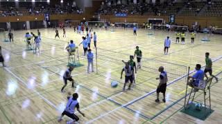 20130630 砺波市民体育大会ビーチバレー50才以上男子 若林vs中野