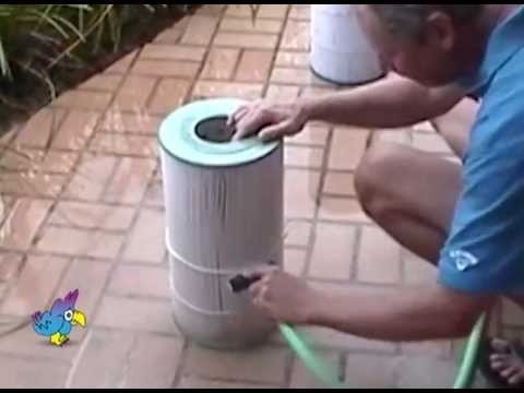 Efficient Cleaning Tool for Pool Filters and Easy to Use Cartridge Filter Cleaner called Aqua Comb