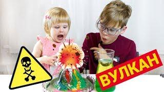 как сделать вулкан в домашних условиях видео поэтапно