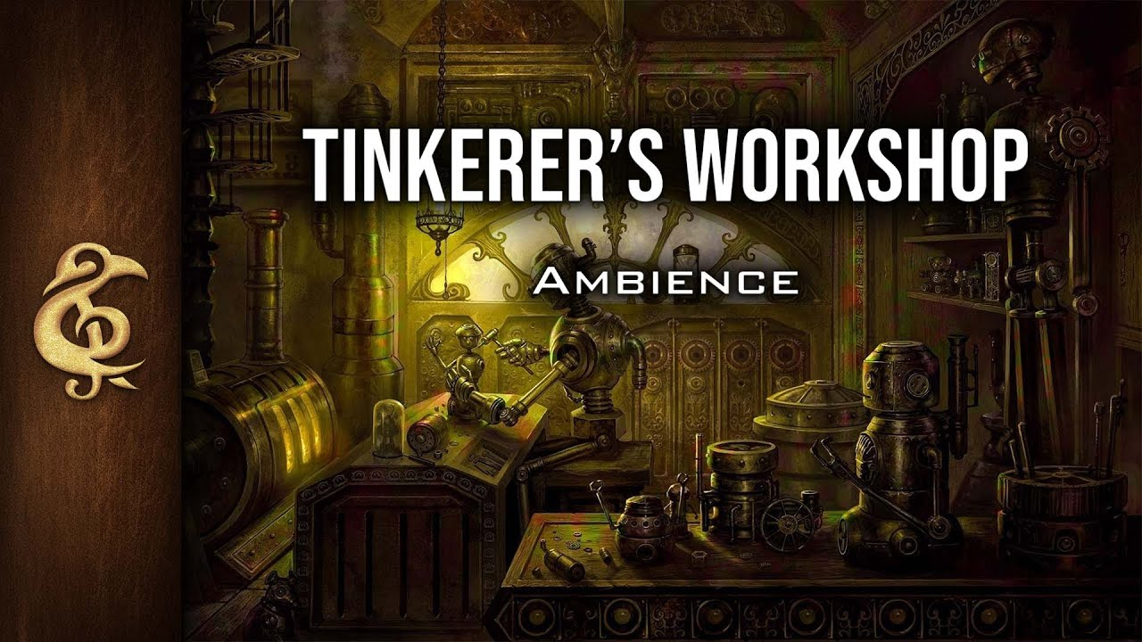 Rpg D D Ambience Tinkerer S Workshop Steampunk Engineer Craftsmanship Automaton Cogs