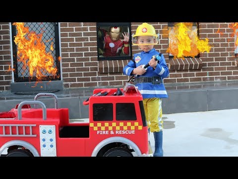 Download Youtube: Fireman Sam And His Fire Engine Truck Saves Iron Man From His Burning House Ckn Toys