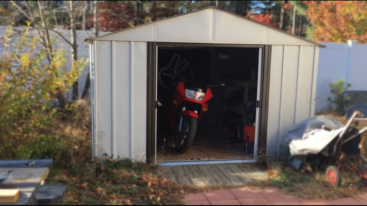 Storage For Your Motorcycle Arrow Shed 300