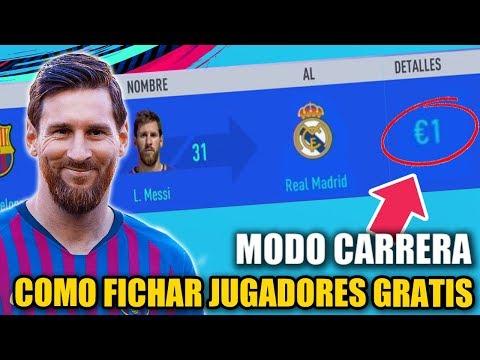COMO FICHAR JUGADORES COMPLETAMENTE GRATIS  - FIFA 19 Modo Carrera