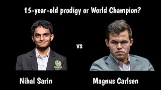 Nihal Sarin vs Magnus Carlsen | An amazing blitz encounter!
