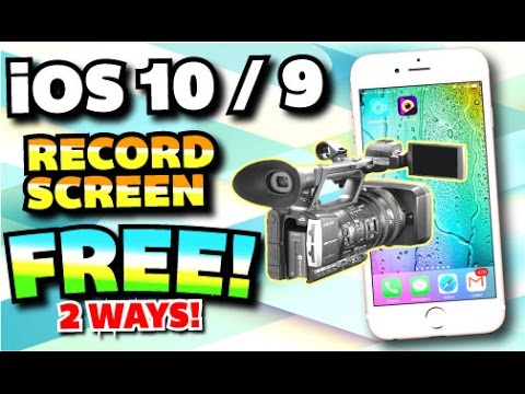 How To Record iPhone, iPad, & iPod Touch Screen FREE on iOS 10/9 (NO JAILBREAK) (NO COMPUTER)