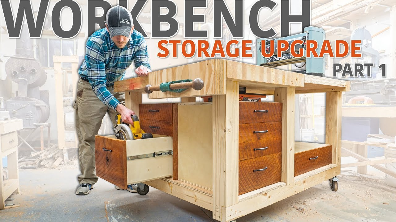 Double Flip Top Workbench   Storage Upgrade (Part 1 Of 2)