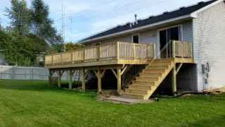 How To Build A Deck Diy -time Lapse Home Improvement