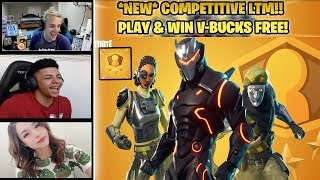 STREAMERS REACT TO *NEW* COMPETITIVE SOLO SHOWDOWN LTM! WIN FREE V-BUCKS! (Fortnite Battle Royale)