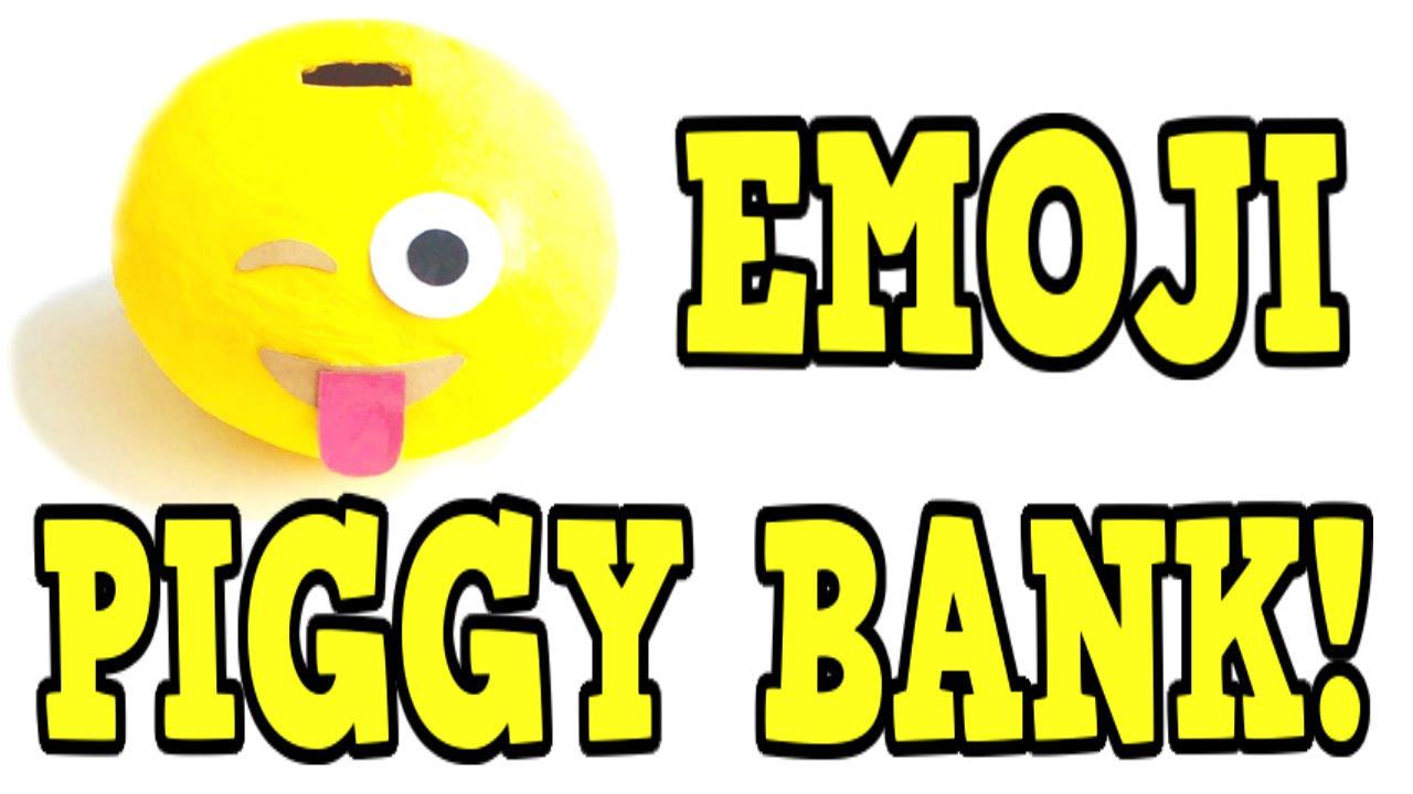 DIY EMOJI PIGGY BANK! Diy Coin Bank Tutorial! EASY Diy