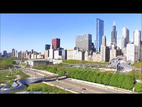 Millennium Park e o Cloud Gate 1080p