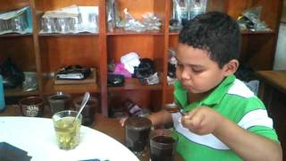 Mario Enrique Mejia, The smallest coffee cupper in the world.