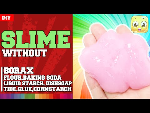 Recipe for slime without borax and baking soda