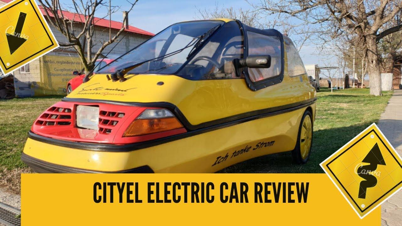 Amazing Cityel electric car review I Prezentare masina electrica 3 roti City-el
