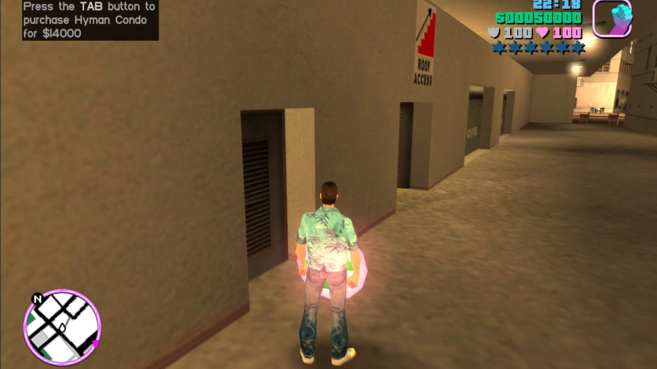 Purchase property without paying for it in Vice City
