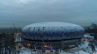 """4К drone - процесс строительства стадиона """"Динамо"""" (ВТБ Арена Парк)"""