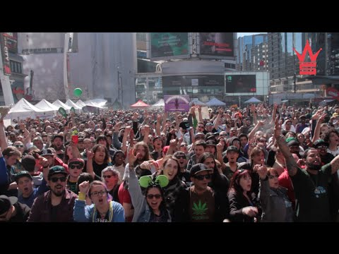 4/20 Pot Celebration At Yonge-Dundas Square In Toronto (WSHH Exclusive)