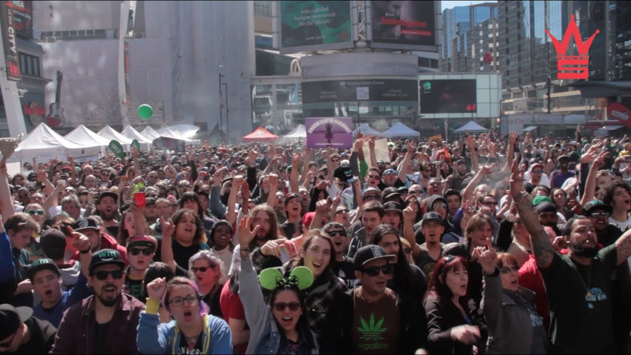WorldstarHipHop Presents 4/20 Pot Celebration At Yonge-Dundas Square In Toronto!