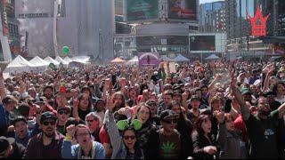 4/20 Pot Celebration At Yonge-Dundas Square In Toronto (WSHH Exclusive)