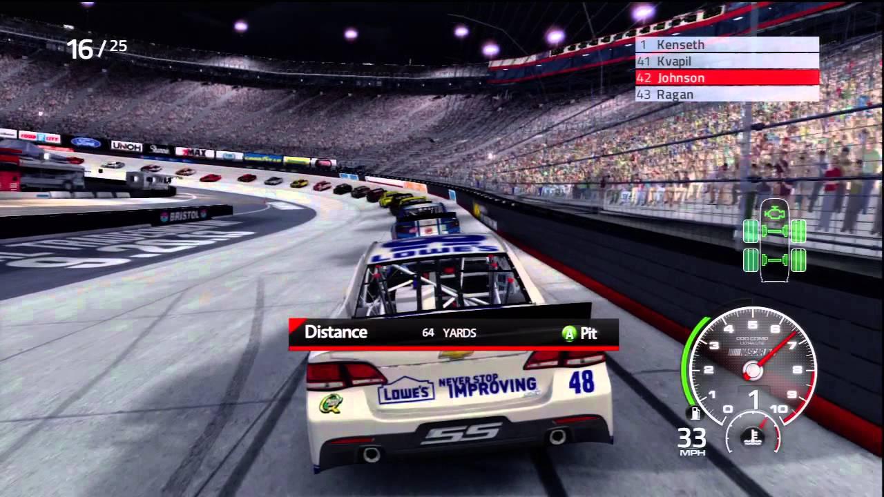 NASCAR THE GAME 14 : NASCAR 2014 BRISTOL NIGHT - YouTube